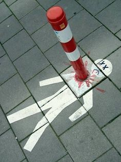 12 Creatively Placed Street Art - Oddee.com (street art)