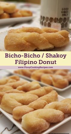 Filipino donut called bitsu-bitsu, bicho bicho, or shakoy sold by vendors in the Philippines. Pinoy Dessert, Filipino Desserts, Filipino Recipes, Filipino Food, Philipinische Desserts, Asian Desserts, Dessert Recipes, Cuban Recipes, Donut Recipes