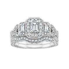 what i should have gotten in another life Fred Meyer Jewelers | 1 ct. tw. Diamond Wedding Set
