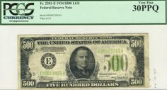 Here is a very bright and fresh Richmond $500 light green seal.