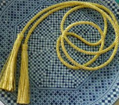 Moroccan gold metallic tassels by sewsouk on Etsy, $4.00