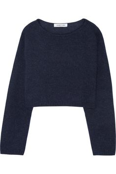 Navy wool, nylon and alpaca-blend Slips on 42% wool, 30% nylon, 28% alpaca Dry clean Imported