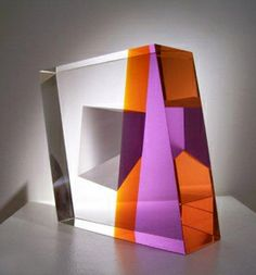 "Martin Rosol - Colored Wind; ""Made with several pieces of glass precisely cut from blocks of crystal, the glass is constructed in architectural forms after selected surfaces have been sand-blasted."" Beautiful!"