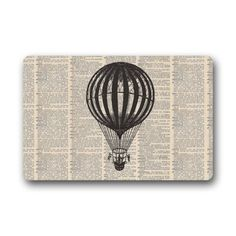 """Vintage Dictionary Page Air Balloon Art Pattern Non-Slip Indoor or Outdoor Door Mat Doormat Home Decor Rectangle - 23.6""""(L) x 15.7""""(W), 3/16"""" Thickness Dictionary Page door mats http://www.amazon.com/dp/B00Q4MLH9Q/ref=cm_sw_r_pi_dp_fFn5ub0MFHZYE"""