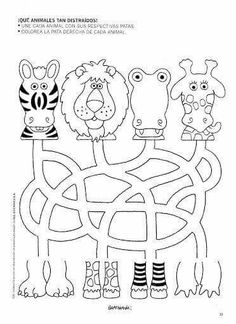 jungle animals  tracing activity page