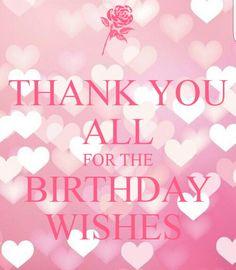 Thank You Birthday Greetings For Myself Thanks Wishes Facebook