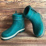 """Обувь ручной работы. Ярмарка Мастеров - ручная работа Сапожки валяные """"Малахит"""". Handmade."""