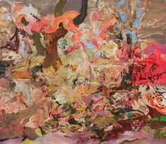 "Cecily Brown - ""S.A.P."" 2004, oil on canvas , 206 x 205 cm 82 notes"