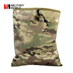 Military World Tactical Gun Rifle Ammo Bag Molle Magazine Dump Drop Pouch Hunting Airsoft Ammo Paintball Tool Flashlight Bags