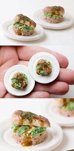Pan-seared Fish ultra realistic dollhouse miniature food