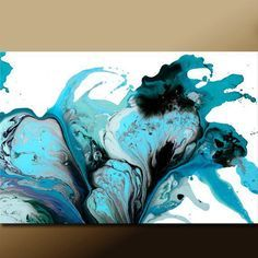 Huge Abstract Art Print 30x20 Contemporary Modern by wostudios