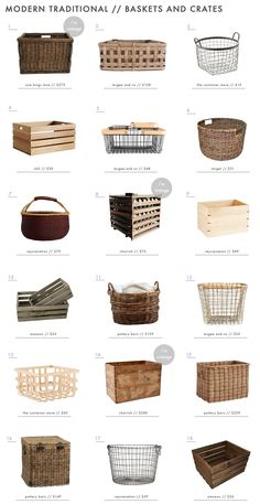 How to Add Modern Traditional Style to Your Home With Art & Decor Emily Henderson Simplified Traditional Furniture Accessories Baskets Crates Kitchen Pantry Design, Kitchen Organization Pantry, Interior Design Kitchen, Kitchen Decor, Medicine Organization, Bathroom Organization, Organization Hacks, Bathroom Closet Organization, Bakery Interior