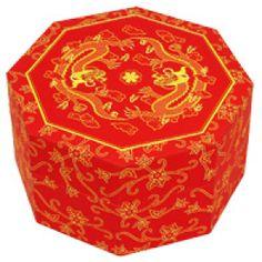 Papercraft de una caja china. Manualidades a Raudales.