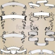 European-style pattern vector art of lace pieces five