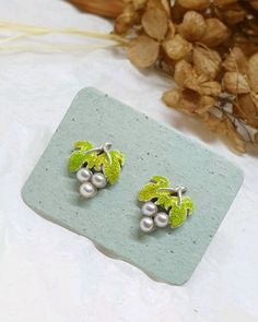 Materials: hot enamel, 925 sterling silver, 925 silver, silver, natural pearls Size: 11mm Free worldwide shipping Handmade product #handmade 925 Silver Earrings, Sterling Silver, Studs, Enamel, Pearls, Natural, Hot, Handmade, Free