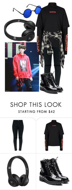 """Biscoito S2"" by flaviaazevedo2000 ❤ liked on Polyvore featuring Topman, Beats by Dr. Dre, kpop, bts, jungkook and bias"