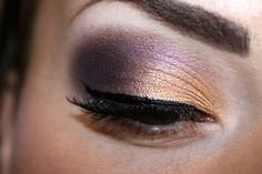 Gold/Plum Smokey Eye