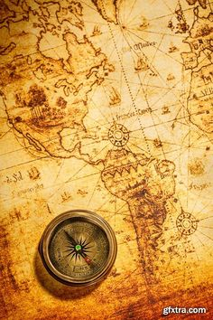 Old Navigation Objects, Maps, Compasses, Sextants, 25xUHQ JPEG [Free Download] – Nulled World