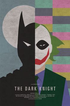 The Dark Knight movie poster redesign.