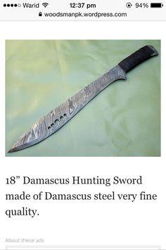 woodsman damascus sword