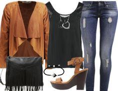 Retrouvez cette superbe tenue camel ici http://stylefru.it/s327306 ! #ootd #jeans #tenuedujour