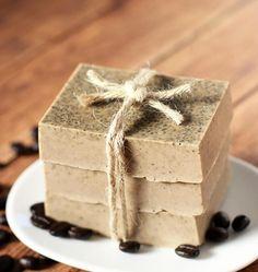 DIY Milk & Honey Soap - Happiness is Homemade Soap Making Recipes, Homemade Soap Recipes, Homemade Products, Coffee Soap, Coffee Milk, Exfoliating Soap, Paleo Sweets, Lotion Bars, Goat Milk Soap