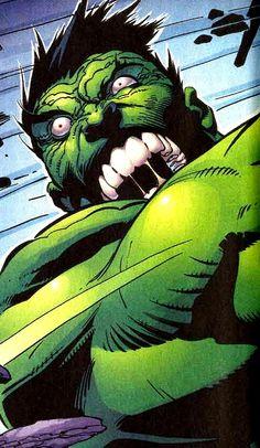 Hulk (Dr. Bruce Banner) (Savage Hulk persona) | art by Ron Garney