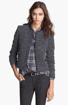 The Kooples Tweed Knit Jacket available at #Nordstrom