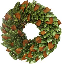 This is our classic dried wreath without decoration for a simply elegant look that focuses on the Magnolia foliage. Display it as is or incorporate your own finishing touches for a personalized accessory you can enjoy for several seasons.