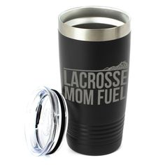 Show your mom how much you appreciate all that she does with this unique lacrosse mom travel mug, this mug is sure to a favorite for coffee on the go. Lacrosse Quotes, Hockey Gifts, Insulated Tumblers, Gifts For Dad, Best Gifts, Give It To Me, Dads, Mom, Cricut