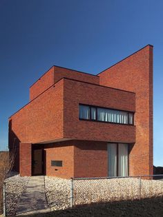 Brick Wall House by Architecture Brick Architecture, Amazing Architecture, Interior Architecture, Brick Building, Building A House, Modern Brick House, Houston Houses, Warehouse Design, Brickwork