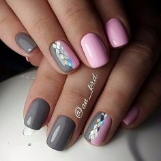 A manicure is a cosmetic elegance therapy for the finger nails and hands. A manicure could deal with just the hands, just the nails, or Nail Manicure, Gel French Manicure, Nail Polish, Trendy Nails, Cute Nails, Hair And Nails, My Nails, Graduation Nails, Grey Nail Designs