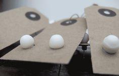Victoria Hutchinson Ceramics new Parian clay stud earings.