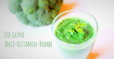 Ich nenne diesen Smoothie die grüne Anti-Histamin-Bombe. Denn wirklich jede Zutat in diesem Smoothie hat positive Eigenschaften auf deine Histaminintoleranz