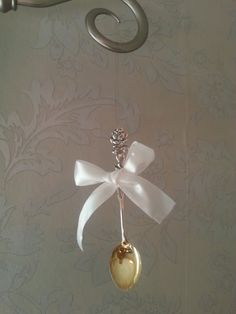 DIY silver spoon deco