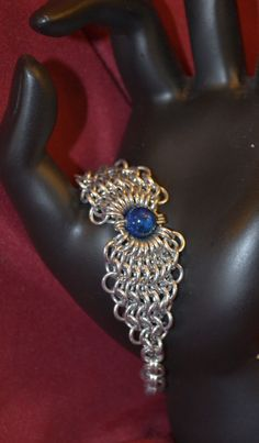 Chainmaille and Bead Bracelet.