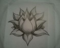 Lotus Tattoo (Pencil) - such a beautiful design