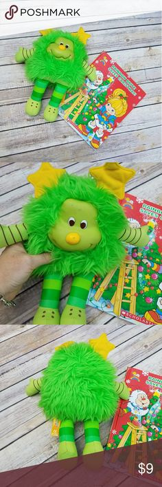 Rainbow Brite Vintage Twinkle Christmas Set Raimbow brite vintage twinkle green plush doll and rainbow brite christmas themed hardback book. Doll has some marks due to age. Both pieces are in great condition otherwise. Perfect for any collector! #vintage #rainbowbrite #twinkle #book #holiday #christmas #collector #green #plush #set rainbow brite Other