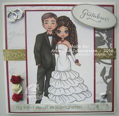 Gorgeous Wedding Card by Anne Lise Johannessen