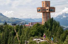 The huge Jakobskreuz cross at the Buchensteinwand, © Bergbahnen Pillersee Wilder Kaiser, Romantic Dinner For Two, Paradis, Willis Tower, Austria, Things To Do, World, Building, Places