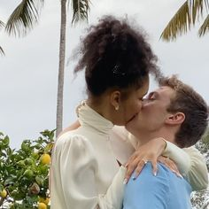 Lucky Blue Smith Ties the Knot with Nara Pellman in Beachside Wedding: 'I Married My Best Friend' Love Pictures, Couple Pictures, Cute Couples Goals, Couple Goals, Enma Watson, Light Blue Suit, Interacial Couples, Lucky Blue Smith, Interracial Love