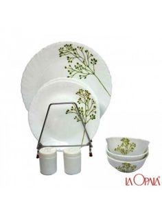 Buy La opala New 20 Pcs Dinner Set, Blissful Greens-376015 online at happyroar.com