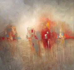 Daily Painters Abstract Gallery: Cityscape/Landscape Abstract Oil Painting by Texas Artist M.Allison