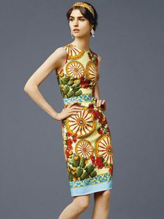 Yellow Sleeveless Wheel Print Tank Dress - Fashion Clothing, Latest Street Fashion At Abaday.com