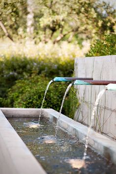 copper pipe//lower water feature
