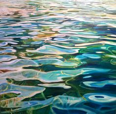 Water Series. 36 x 36 acrylic. New at C2C for 2015. #michellecourierpaintings