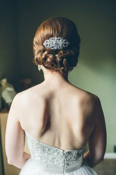 Hair elegance. Stylist: Katie Bauer of Salon 117. Hair accessory: Bel Aire Bridal. Photography By / katemillerphotography.com,