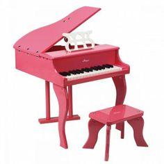 Wunderschöner Spielzeug Flügel mit Hocker in Pink, von Hape