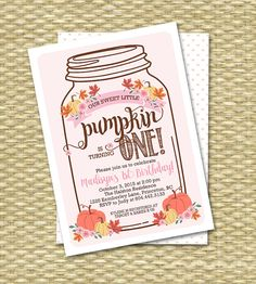 Our Little Pumpkin First Birthday Invite by SunshinePrintables