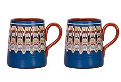 Bulgarian Troyan Beer Mugs created by Donna Hadjipopov on OneKingsLane.com